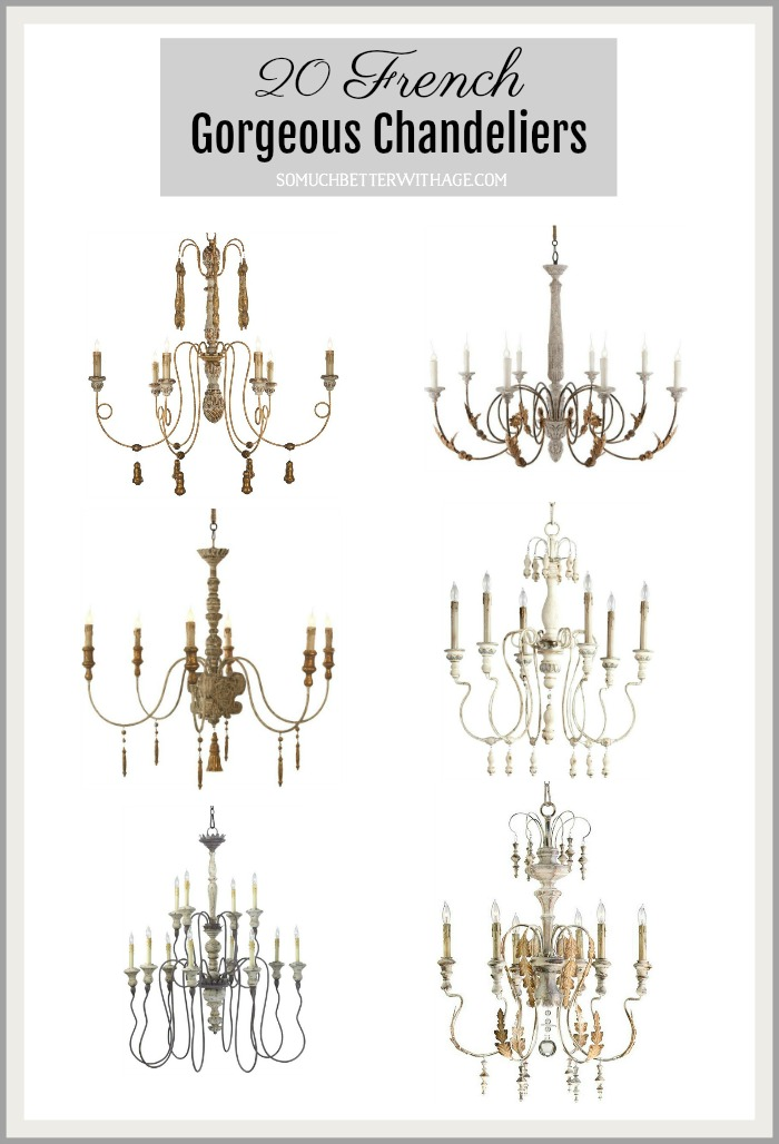 20 French chandeliers graphic.