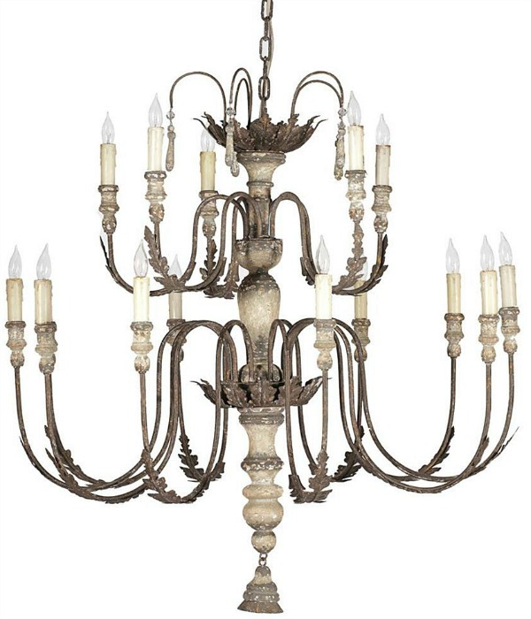 A large Katrina French Country chandelier.