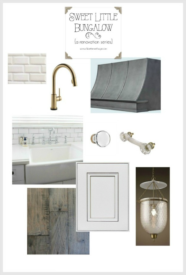White and gold kitchen inspiration / my design board - So Much Better With Age
