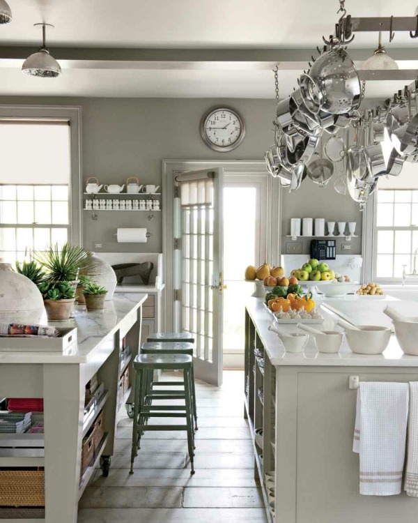 Grey And White Kitchen With Island kitchen islands - white or color? | so much better with age