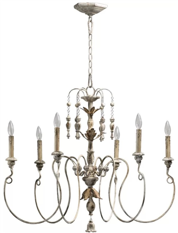 The Most Gorgeous French Chandeliers/Paladino white - So Much Better With Age