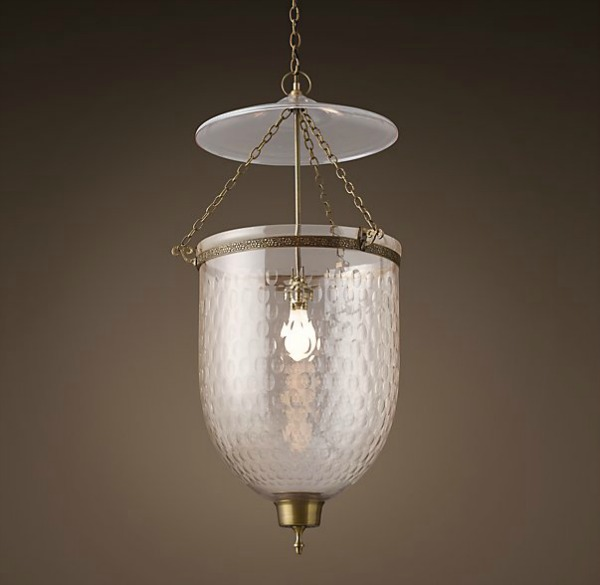 RH lantern pendant for over kitchen island