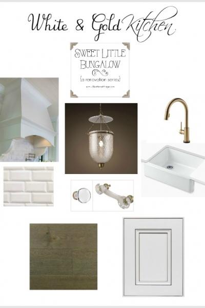 White and Gold Kitchen Inspiration