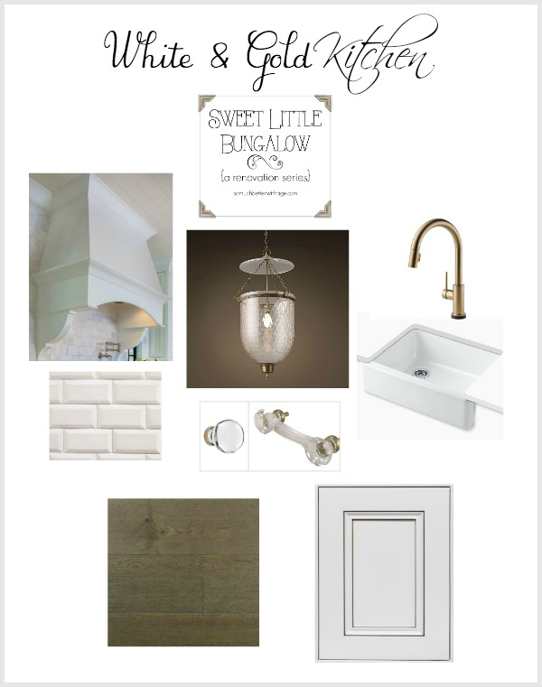White & gold kitchen inspiration / design board - So Much Better With Age