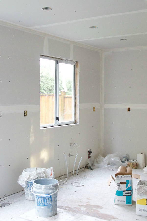I Love Drywall / where the kitchen sink will go - So Much Better With Age