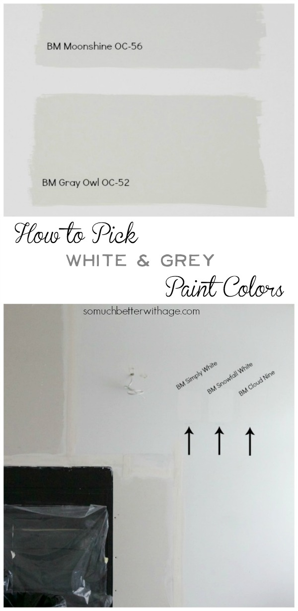 How to pick white & grey paint colors