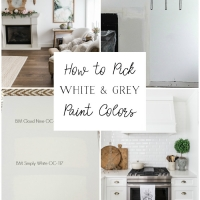 How to Pick White and Grey Paint Colors