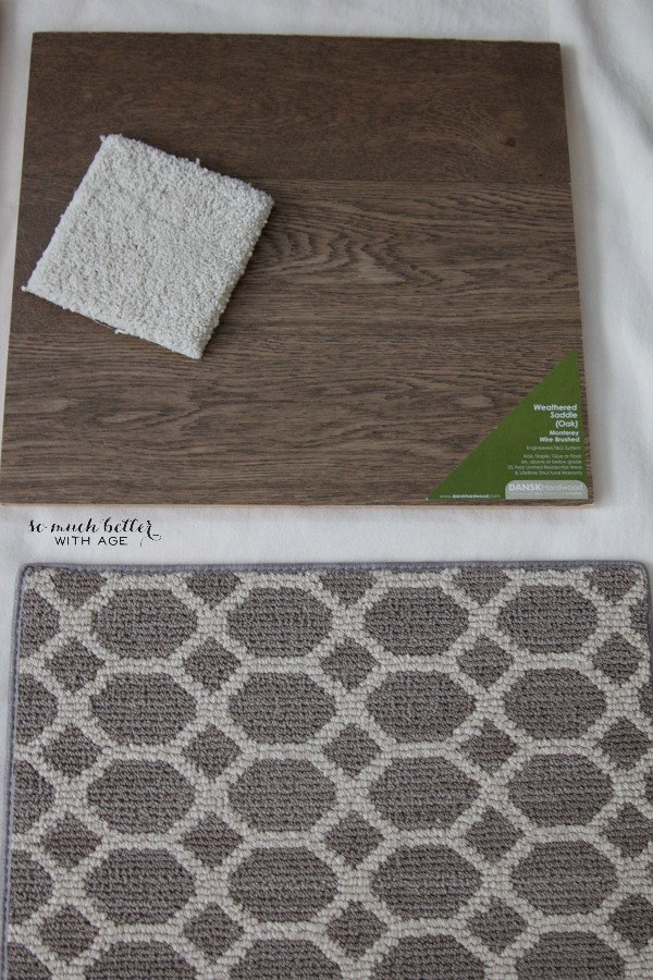 How to Pick White and Grey Paint Colors/flooring samples - So Much Better With Age