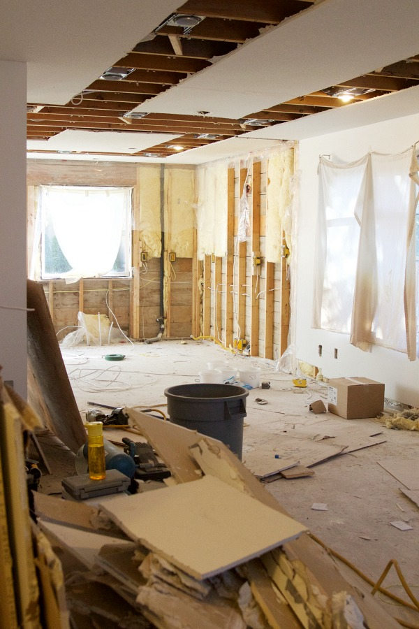 Renos in full swing at the Sweet Little Bungalow / studs and drywall - So Much Better With Age