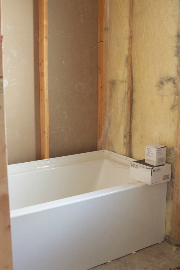 Renos in full swing at the Sweet Little Bungalow / bathroom stripped to the studs