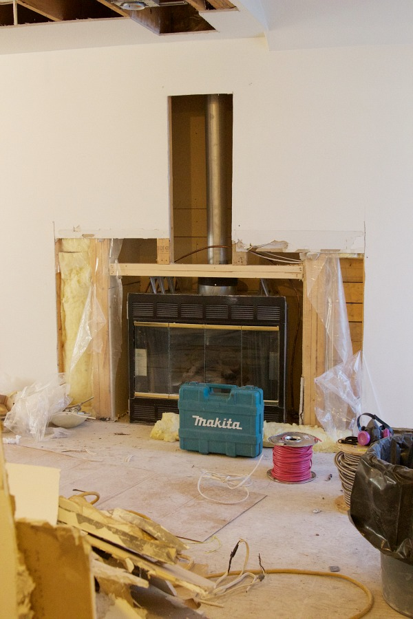 Renos in full swing at the Sweet Little Bungalow / fireplace - So Much Better With Age