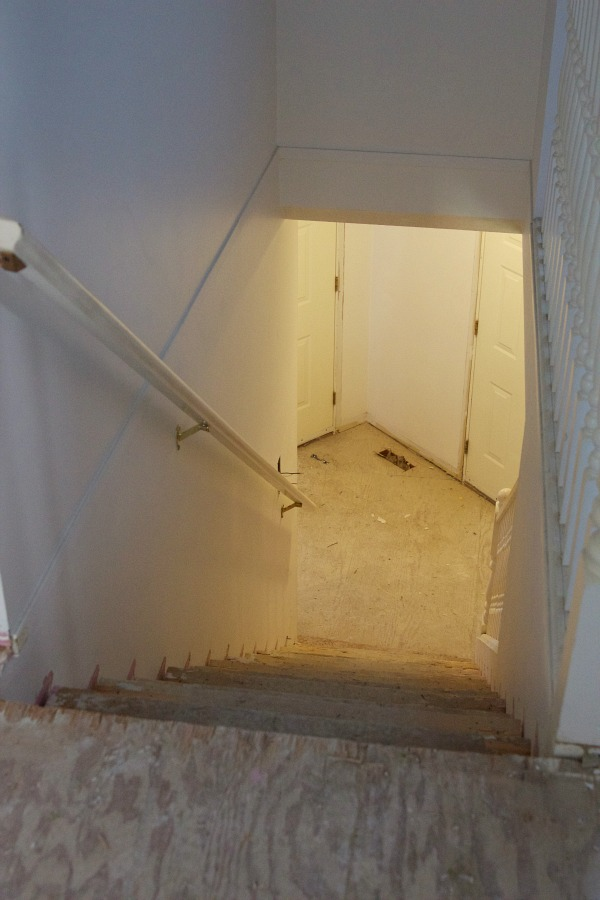 Renos in full swing at the Sweet Little Bungalow / staircase