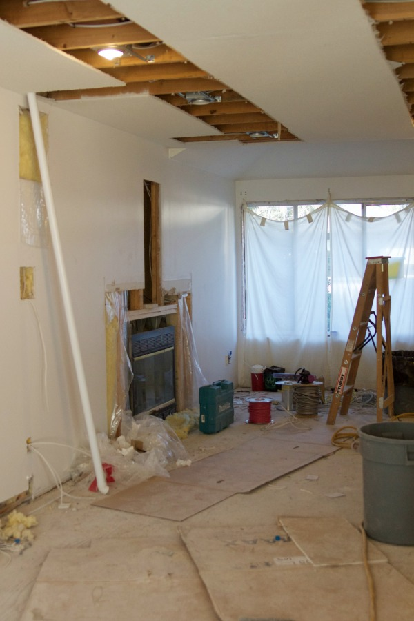 Renos in full swing at the Sweet Little Bungalow / drywall - So Much Better With Age