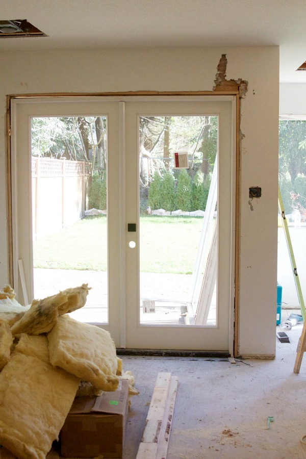 Renos in full swing at the Sweet Little Bungalow / new French doors
