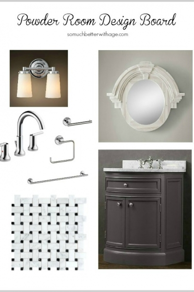 Powder Room Design Board