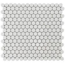 White penny tile.