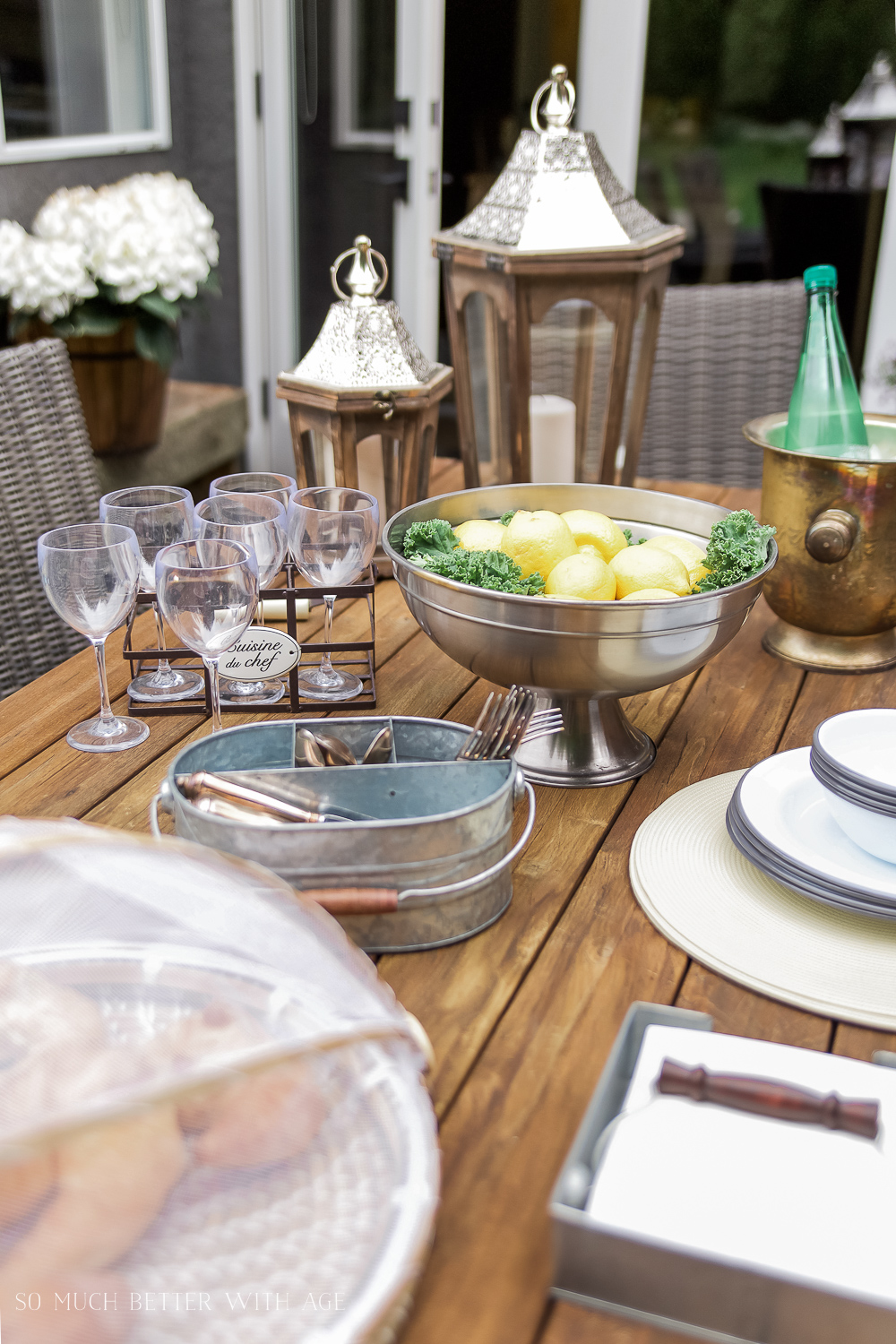 So Much Better With Age - How to Set a Casual Outdoor Table, French Vintage Style