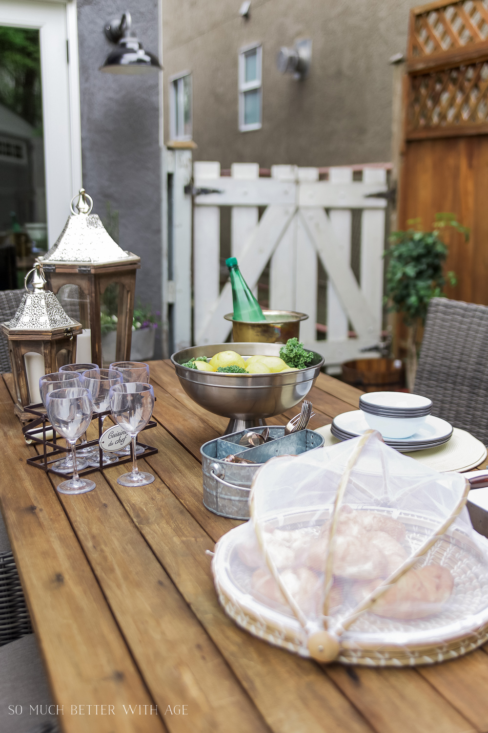 How to Set a Casual Outdoor Table French Vintage Style - So Much Better With Age
