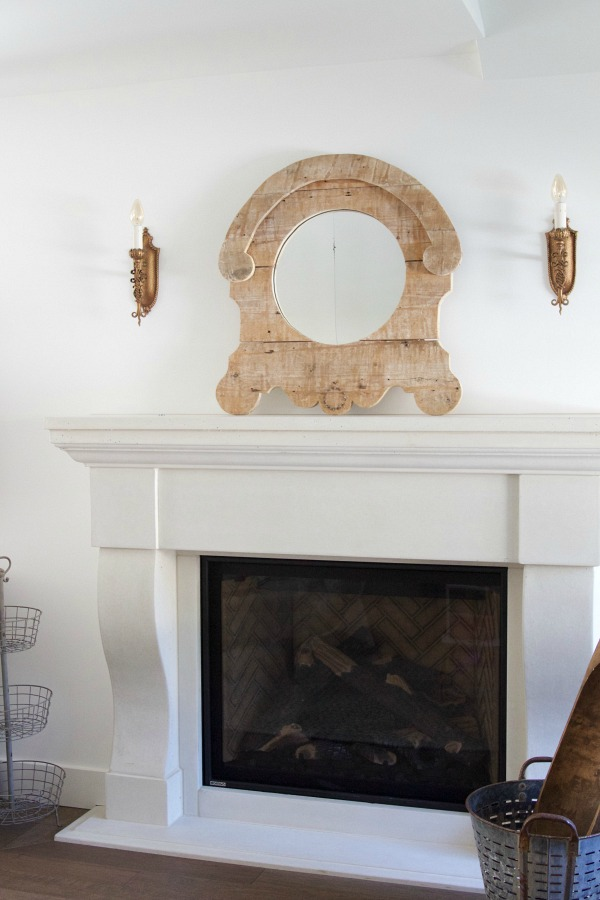 Just moved in to my new house / limestone looking fireplace made of concrete - So Much Better With Age