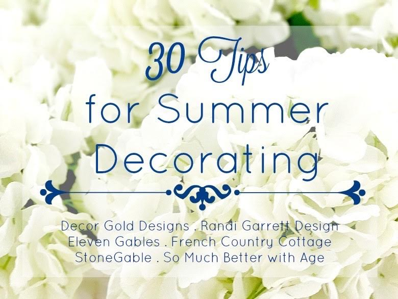 30 tips for summer decorating poster.
