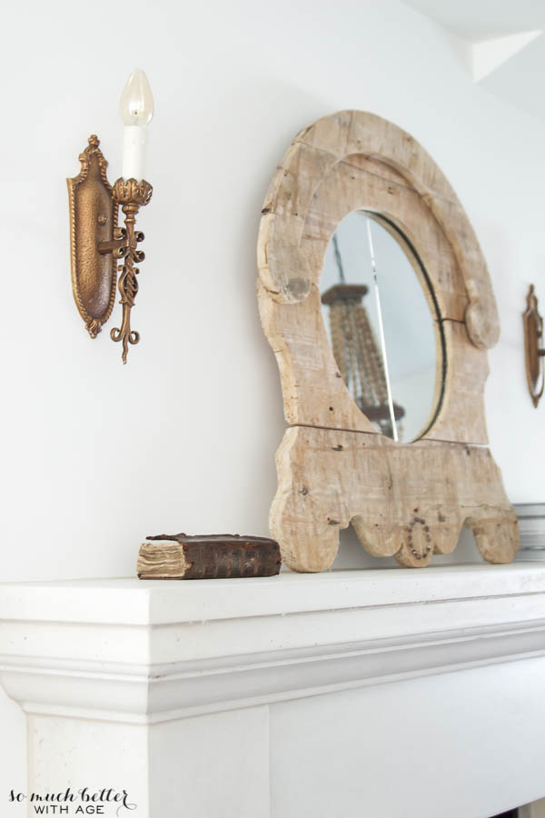 Living room tour & unique gift / mirror on mantel - So Much Better With Age