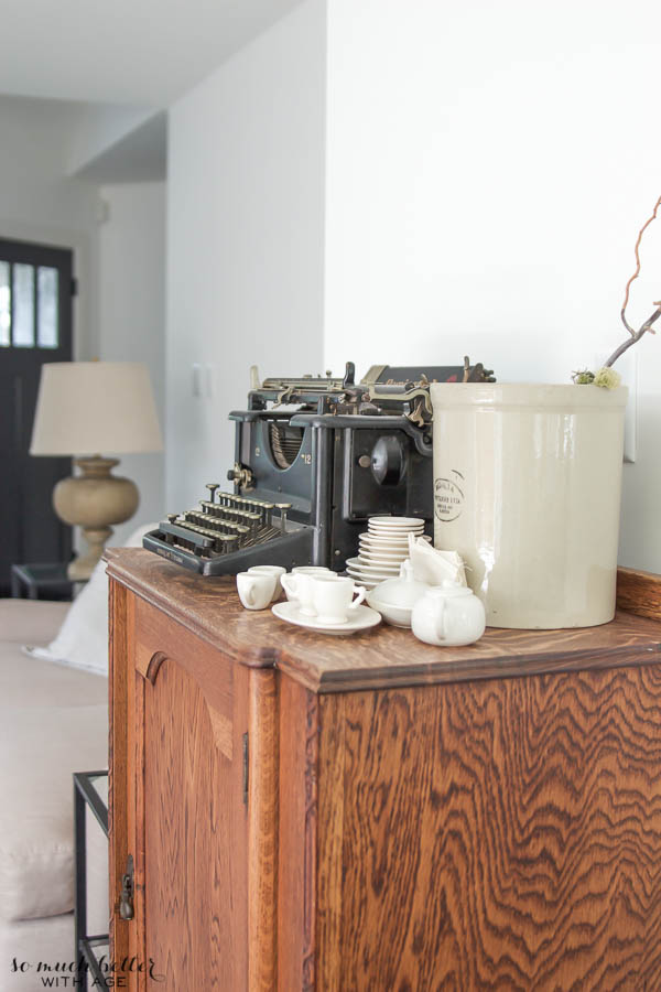 Living room tour & unique gift / antique typewriter - So Much Better With Age