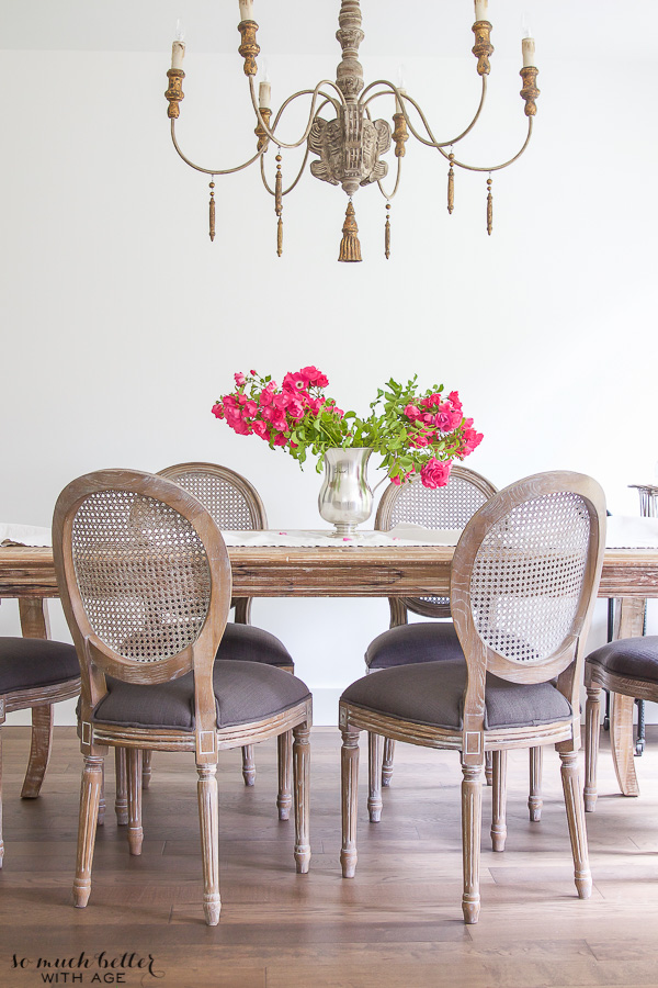 The Most Gorgeous French Chandeliers / French Vintage dining room - So Much Better With Age