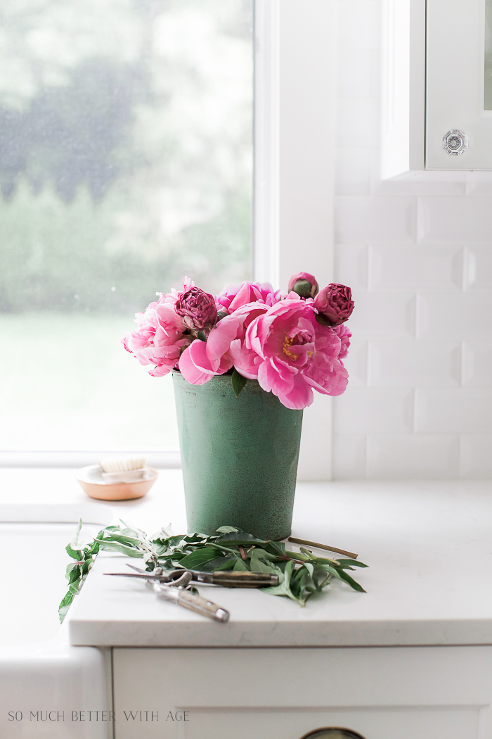 Pink peonies / 5 Five Tips for Summer Decorating - So Much Better With Age