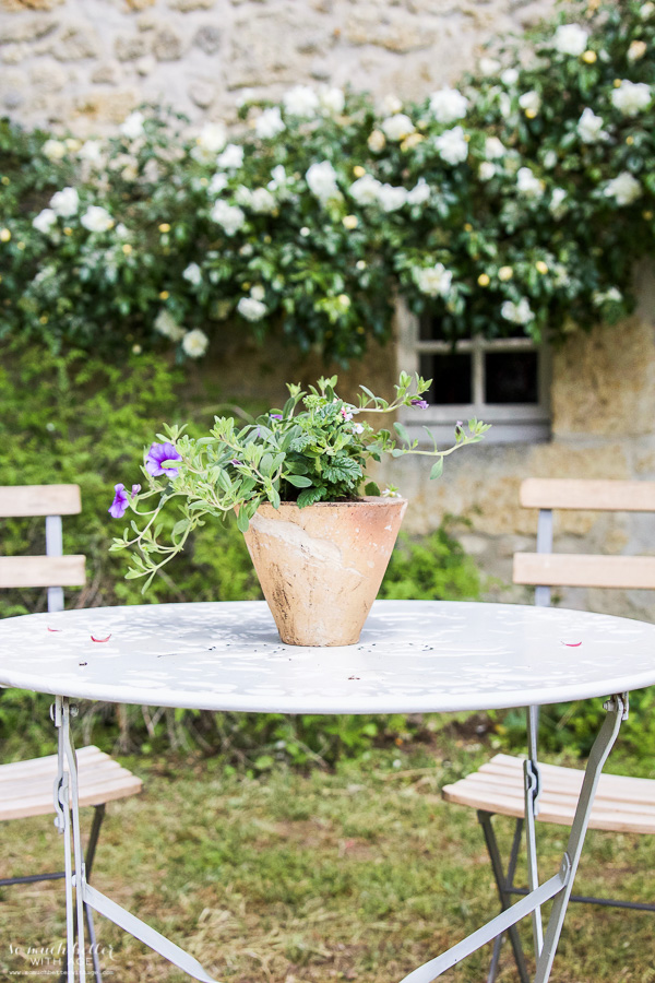 My time in France at Chateau Mondesir, 13th century Chateau / potted flowers - So Much Better With Age