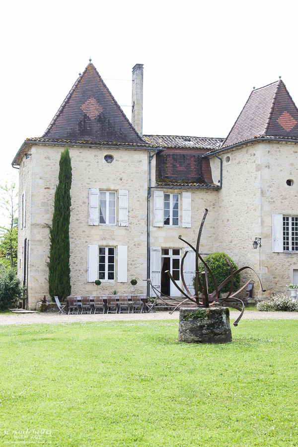 My time in France at Chateau Mondesir, 13th century Chateau / statue in front - So Much Better With Age