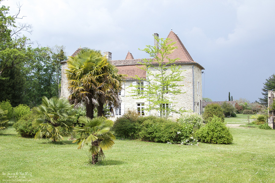My time in France at Chateau Mondesir, 13th century Chateau / palm tree - So Much Better With Age