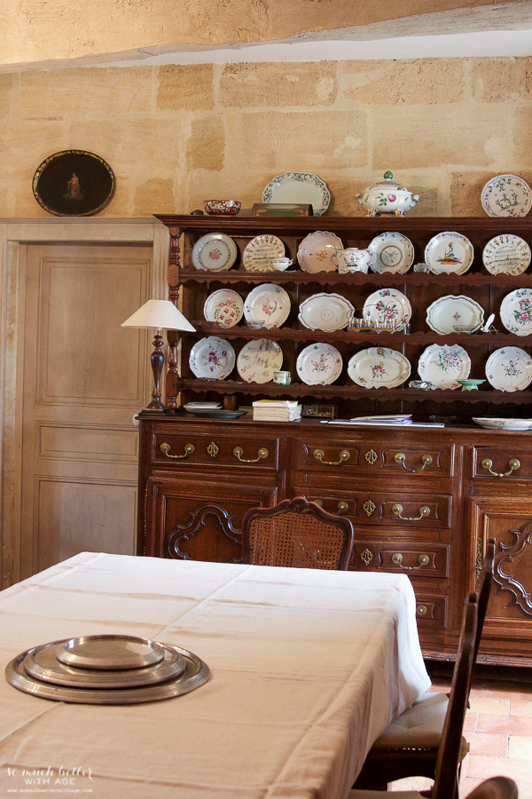 My time in France at Chateau Mondesir, 13th century Chateau / antique dishes - So Much Better With Age