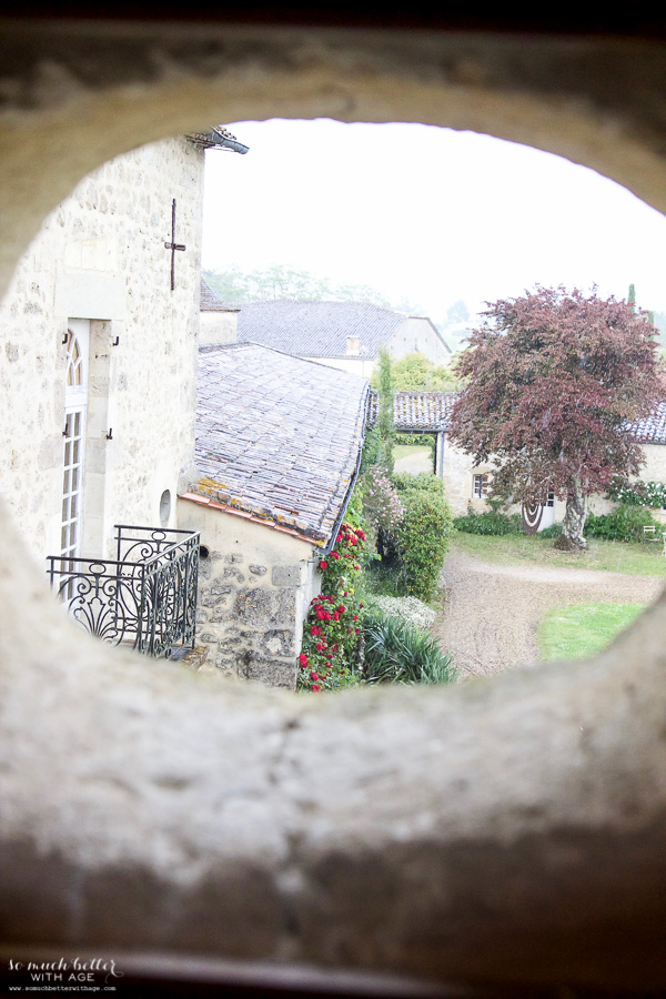 My time in France at Chateau Mondesir, 13th century Chateau / view from window - So Much Better With Age