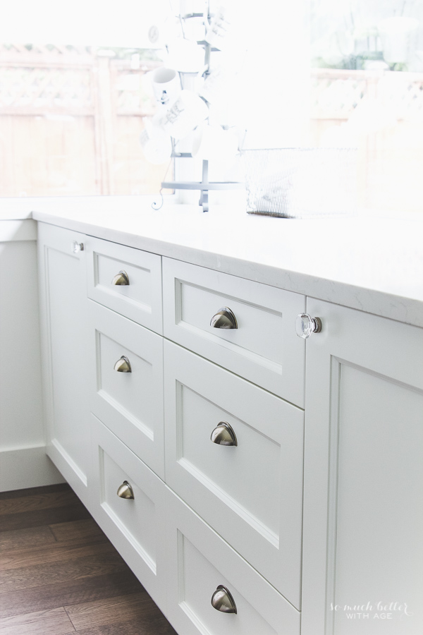 Kitchen details, antique finishes