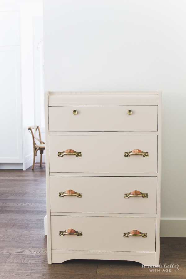 Vintage pink dresser makeover using Fusion Mineral Paint / finished dresser - So Much Better With Age
