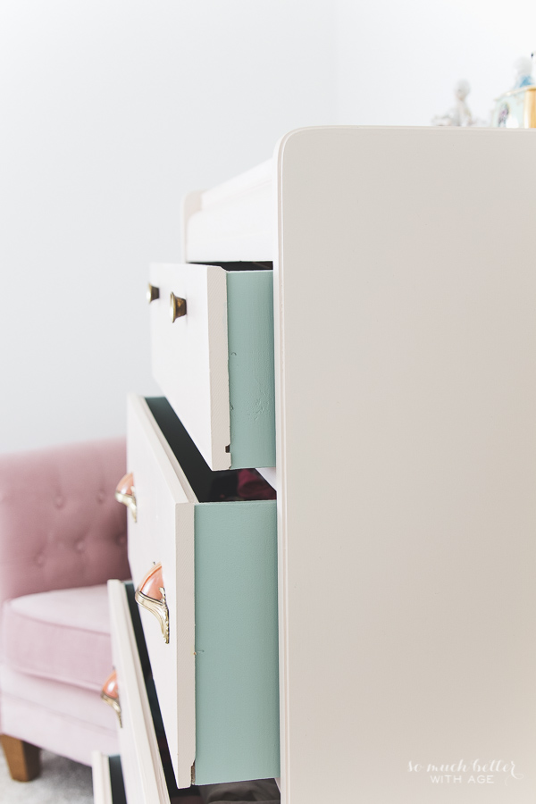 Vintage pink dresser makeover using Fusion Mineral Paint - So Much Better With Age