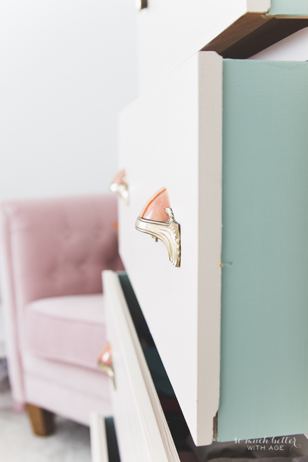 Vintage pink dresser makeover - So Much Better With Age
