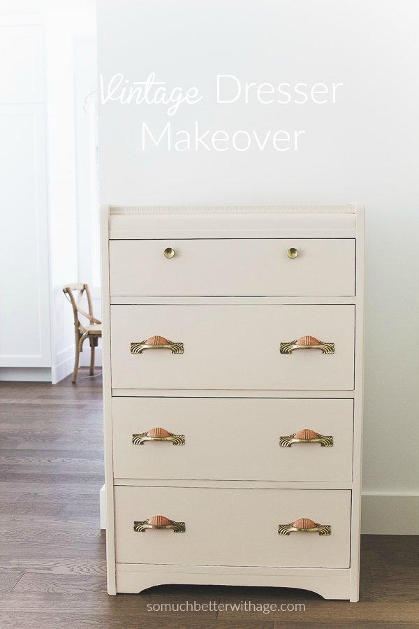 Vintage pink dresser makeover using Fusion Mineral Paint / dresser in room - So Much Better With Age