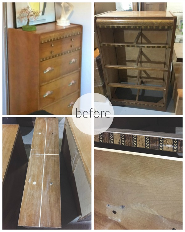 Vintage pink dresser makeover using Fusion Mineral Paint / before pictures - So Much Better With Age