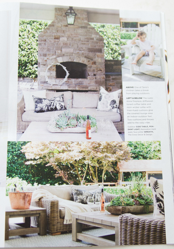 My bestie's house in June 2016 Style at Home Magazine