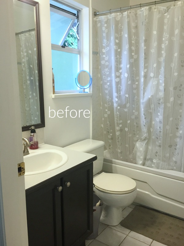 Small bathroom renovation and 13 tips to make it feel luxurious/before bathroom - So Much Better With Age