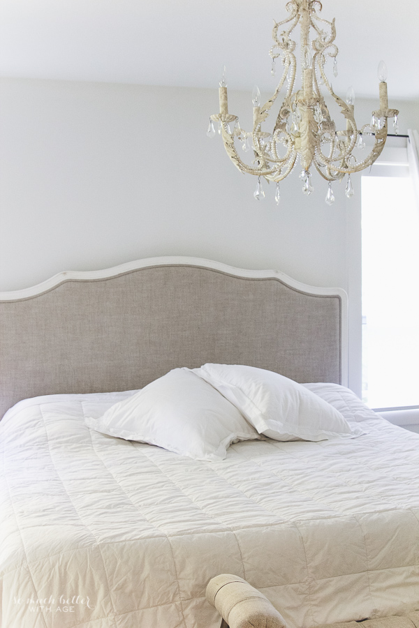 Decorating the master bedroom, white bed