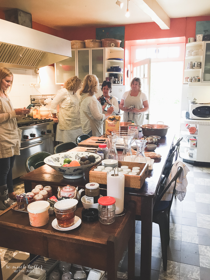 Photography And Styling Workshop / making jam in kitchen in France - So Much Better With Age