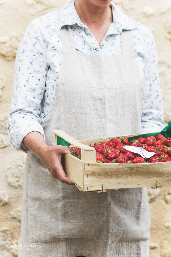 Photography And Styling Workshop / model holding crate of strawberries - So Much Better With Age