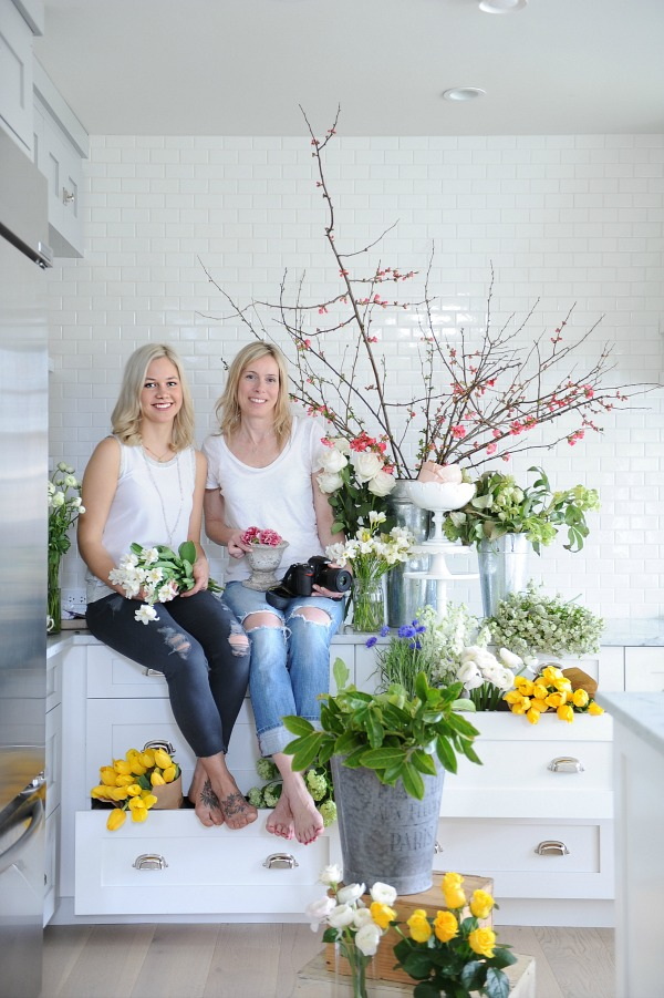 Floral styling workshop with Tracey Ayton & Floralista / flowers in drawers in kitchen - So Much Better With Age