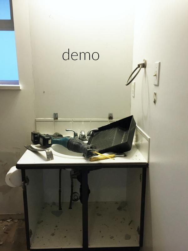 Demo starts on kids bathroom