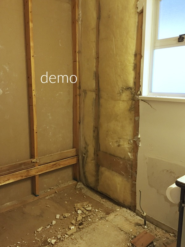 Simple clean and white kids bathroom reveal / tearing out the floor and walls - So Much Better With Age