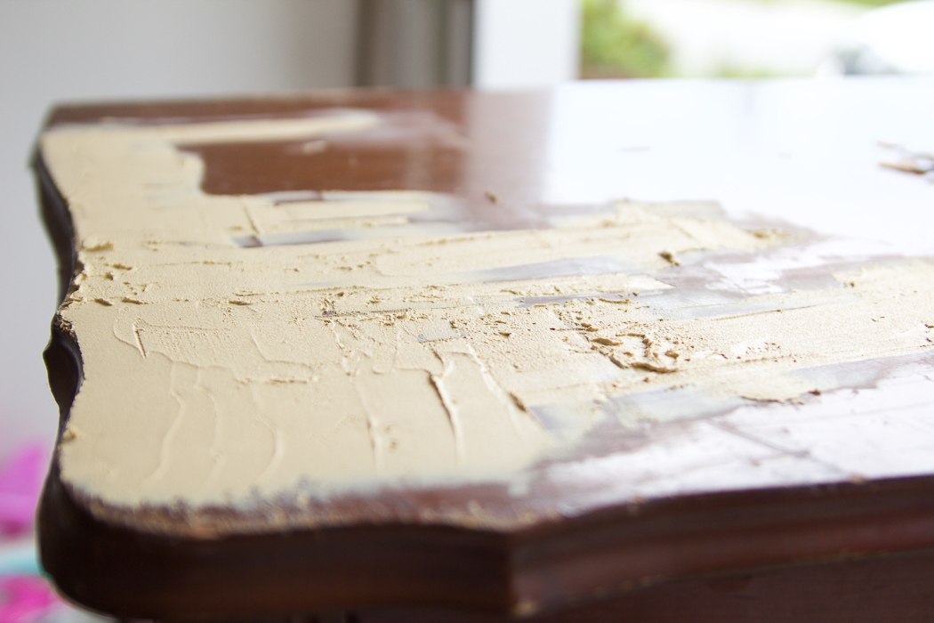 8 Steps on How to Finish Badly Damaged Furniture / wood putty on dresser - So Much Better With Age