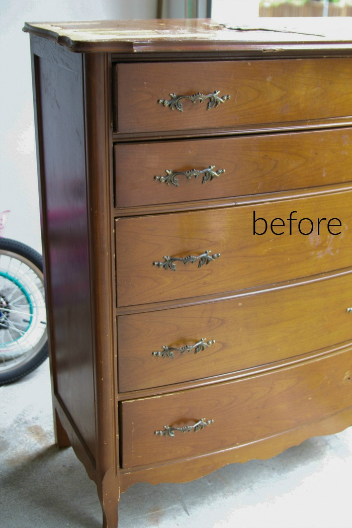 8 Steps on How to Finish Badly Damaged Furniture / wooden dresser - So Much Better With Age