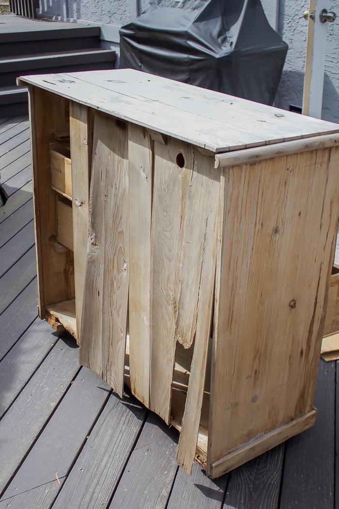 broken dresser, falling apart- 8 Steps on How to Finish Badly Damaged Furniture